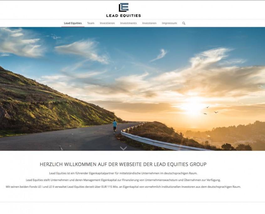Werbeagentur für Investmentfond, Prorammierung der Lead Equities Webseite