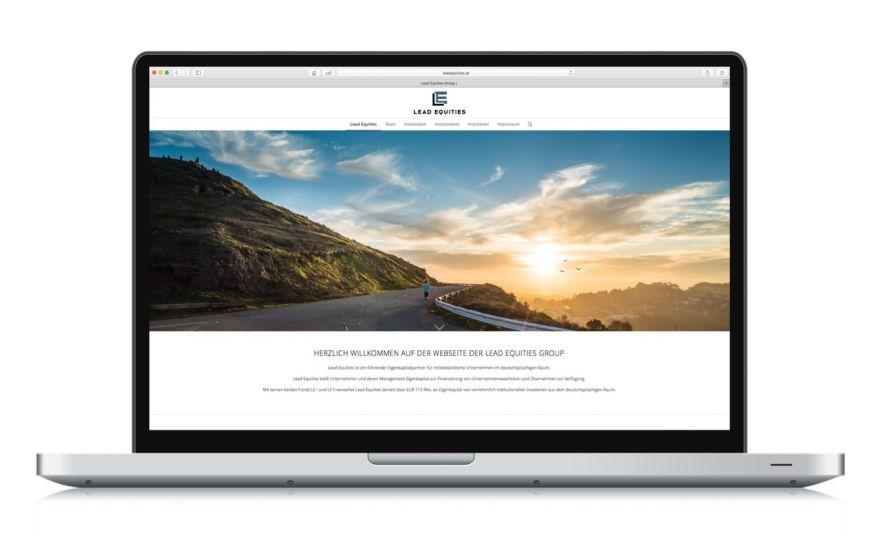 Webseite für Investment Fond Lead Equities, Konzeption und Programmierung durch Thomas Sixt Werbeagentur Wien.