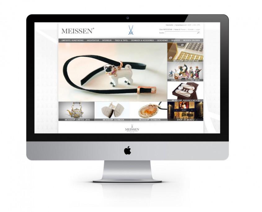 Webentwicklung für Luxus Brand und lifestyle Branche gezeigt am Beispiel Meissen Manufaktur