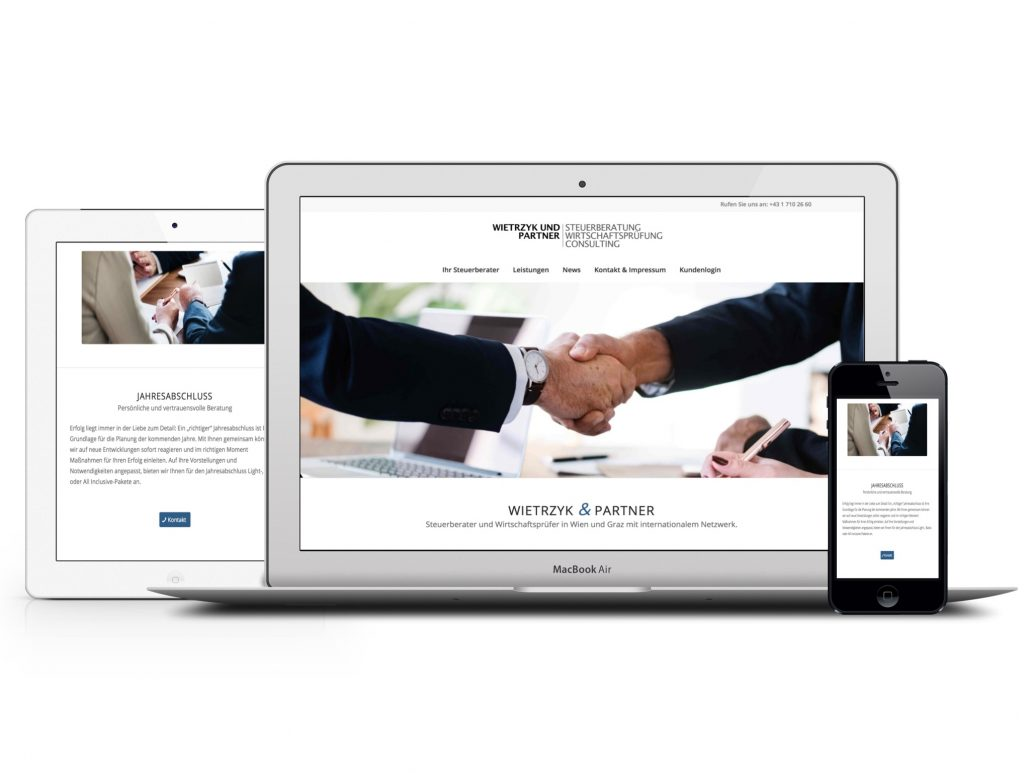 webdesign für steuerberater und wirtschaftsprüfer gezeigt am beispiel wietrzyk und partner