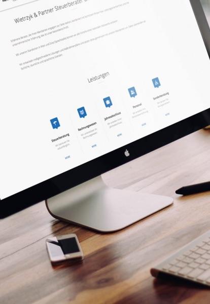 Konzeptin, Grafikdesign, Programmierung, Suchmaschinenoptimierung und Performance-Marketing aus einer Hand.
