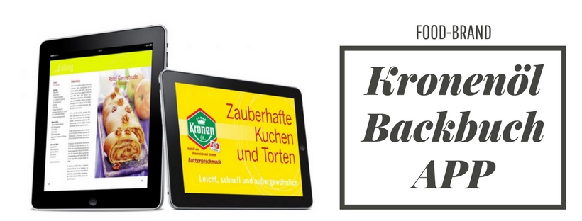 Referenz t6t.at Webagentur online Marketing App Endwickler für Food Brand Kronenöl Backbuch