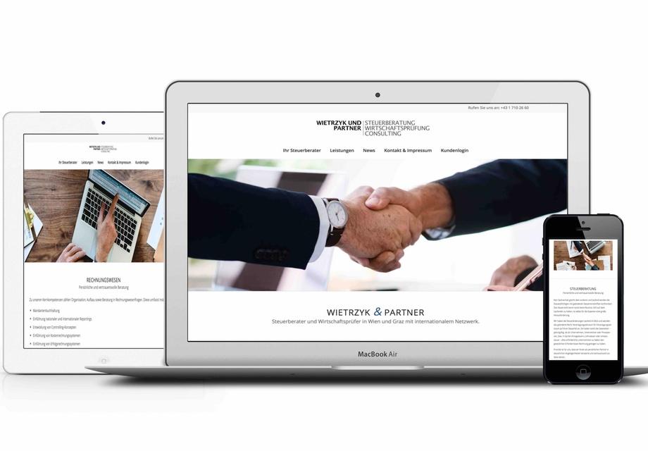 Webdesign für Steuerberater und Steuerberater-Kanzlei. Referenz Beispiel für responsives Webdesign programmierung und homepage erstellung.